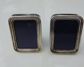 Pair of Small Vintage Silver Picture Frames