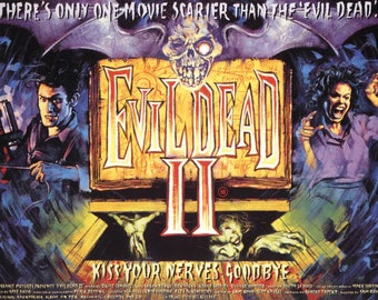 Evil Dead II 1987 Cult Vintage Horror Film Movie Poster Print A3 A4