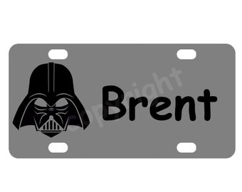 Kid's Darth Vader Star Wars Mini License Plate-Bike Plate-Kid's Door Sign