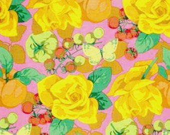 3 yd Season's Collection Martha Negley  Cotton Quilt Fabric Summer Westminster Pink