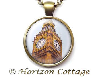 Big Ben Necklace, London Souvenir, English Landmark, Travel Memento, Travel Gift, The Elizabeth Tower, The Great Bell, Your Choice of Finish