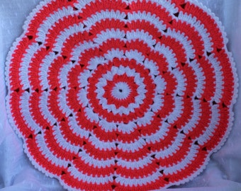 Two-sided crochet chair pads, round chair pads, crochet