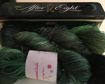 After eight hand dyed sock yarn