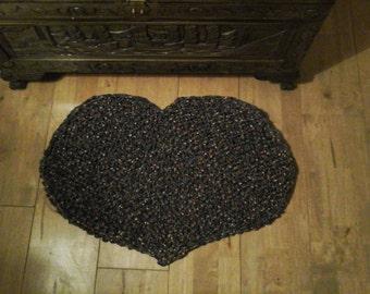 Heart Shaped Scatter Rug