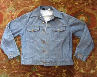 Medium Size 40 Sears Selvedge Denim Jean Jacket / Trucker, Roebucks, Selvage, Self Edge