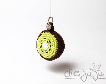 Key chain Kiwi fruit crocheted crochet