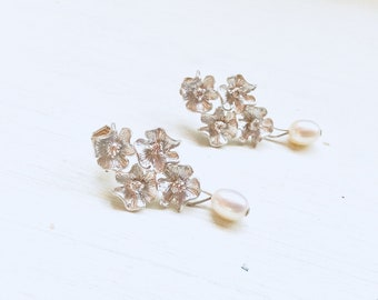 Bridal jewellery, wedding jewellery, bridal earrings, wedding earrings, pearls