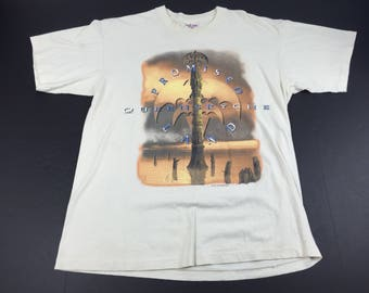 Vintage 1995 Queensryche promised land tour t-shirt mens XL metal band