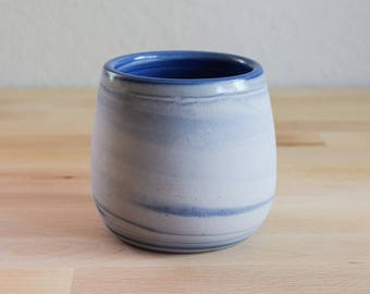 Blue and white marbled ceramic mug, contemporary mug, Mug, Ceramic Mug, Ceramic Tumbler, Porcelain Mug, Coffee Mug, interior design (M12)