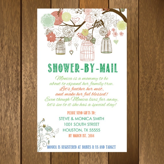 Rustic shower by mail baby shower invitation printable like this item filmwisefo Image collections