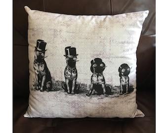 Smoking Dogs Pillow