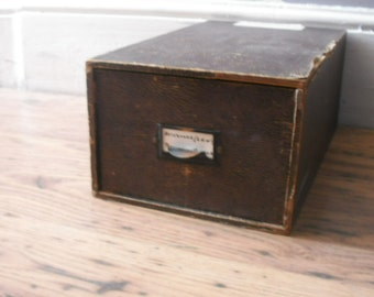 vintage storage drawer box file
