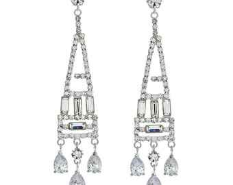 Statement Art Deco Chandelier Earrings