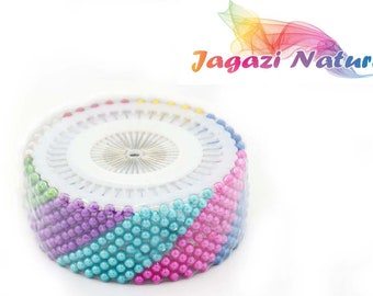 Ball Head Wig Making Pins. Sewing Pins. Colourful Pins. Accessories to sewing.