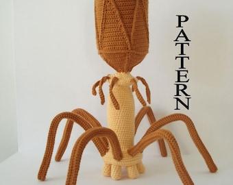 Bacteriophage Virus Crochet Pattern Amigurumi Crochet Virus Digital Download Science Crochet Patterm Adobe Pdf FIle