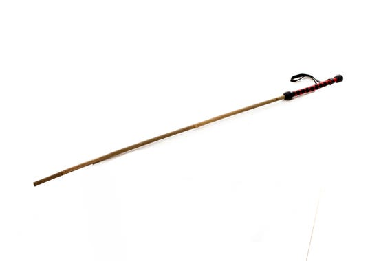 Leather bdsm riding crop bamboo cane with wrapped handles for Uses for bamboo canes