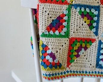 Retro crochet baby blanket