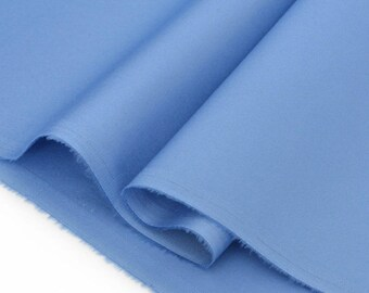 Satin blue x50cm color polyester cotton fabric
