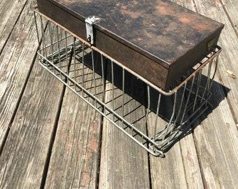 Vintage Metal Storage Box, Industrial Decor and Storage