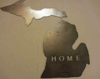 Metal Michigan State sign