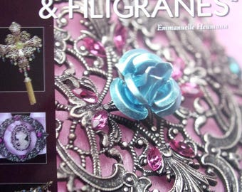 Book jewelry and accessories with pearls on prints and WATERMARKS