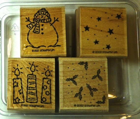 STAMPIN UP STAMPS ~ Wood Block Stamps ~ Card and Papercraft Stamps ~ Scrapbookers ~ Stationary Crafters ~ Excellent Condition