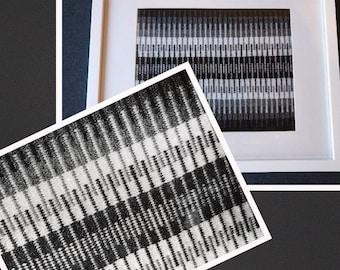 Gray Matter Handwoven Framed Art