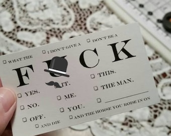 NSFW business cards F#ck V 1.0