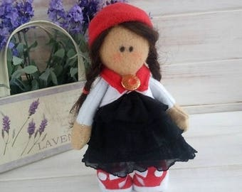 Soft doll/Handmade doll/Cloth doll/Textile doll/Toy for kids/Tilde doll/Collection Doll/Fabric doll/ rag doll -  Idyllic Gift, child doll