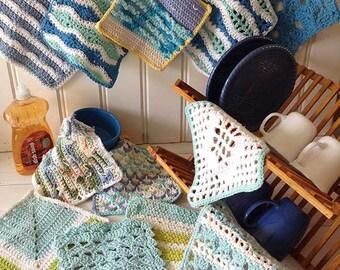 Seaside Dishcloth Set Crochet Pattern - PDF