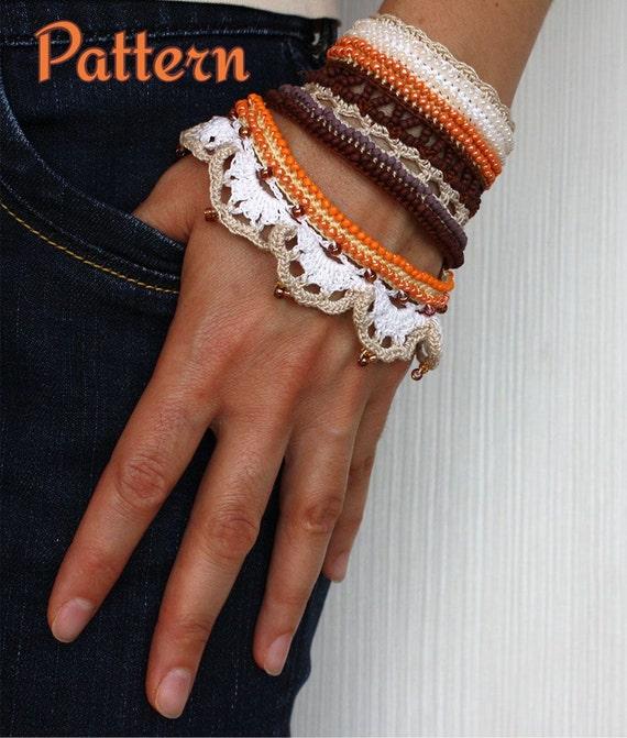 Crochet Pattern Instant Download Wristband Pattern Crochet