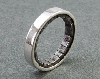 Architectural Ring - silver, iron