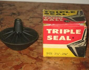 "Triple Seal Toilet Tank Ball Vintage 60's Size 2 1/4"" - 2 5/8"" NOS! #BV"