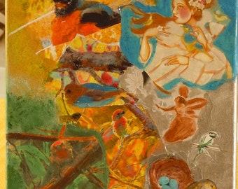 Bird Paradise Mixed Media