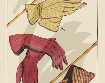 Reproduction ED179 Ladies Gloves Sewing Pattern Size 6 - 8 All sizes included - PDF