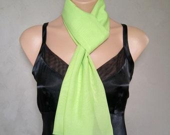 Green Scarf, Sheer Chiffon Scarf, Green Skinny Scarf, Daphne Scarf, Green Chiffon Scarf, Sheer Green Scarf, Skinny Scarf Green