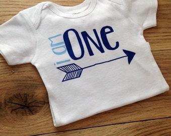 I AM ONE / arrow birthday shirt / Boys First Birthday Shirt/ ONE / Boys bow tie birthday shirt / Lil man birthday