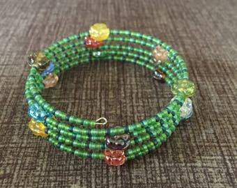 Flower Wraparound Bracelet