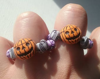 Halloween Button Rings