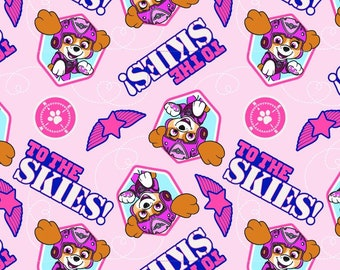 Paw Patrol Fabric Pup To the Skies From David Textiles 100% Cotton