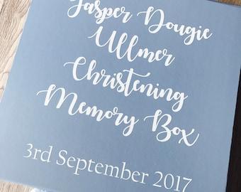 Christening Gift Box, Personalised Keepsake box, Personalised Gift Box, Baptism gift box, dedication gift box, baby naming gift box