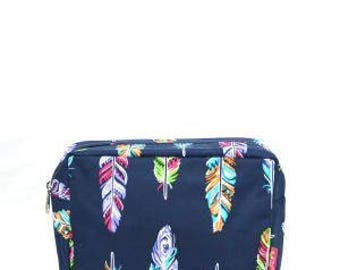 Cosmetic Bag, Feather Cosmetic Bag