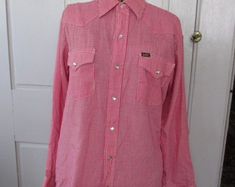 SALE- Lee Western Style Cotton Button Down Shirt