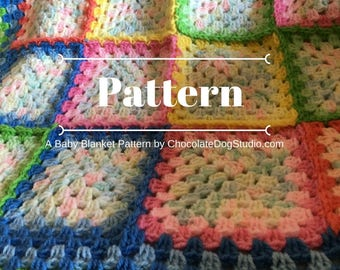 Charlotte's crochet Baby Blanket pattern, A granny square afghan pattern
