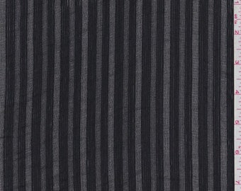 Black Leno Stripe Gauze, Fabric By The Yard