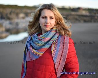 Knitting Pattern - Colour Fantasy Shawl