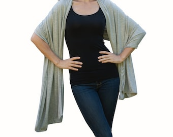 Sarong Wraps luxurious look and feel with UV protection multi-use daily, travel, yoga, work, dining, errands