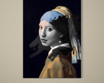 The Girl With Pearl Earring Collage with Real Portrait (FailunFailunMefailun)