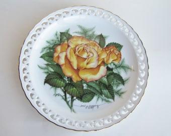 American Rose Garden 'Peace Rose' Collectors Plate