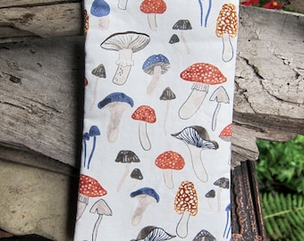 Eye Glasses Case | Cute Reading Glasses Case | Cute Mushroom Fabric | Glasses Case | Small Eye Glass Case Under 15 | Cute Gift Under 15